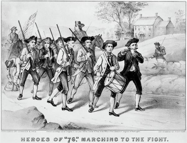 Fife Painting - Minutemen Heroes Of 1776 by Granger