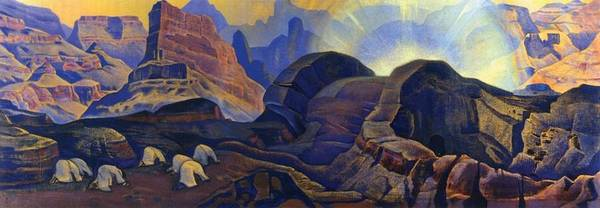 1923 Painting - Miracle by Nicholas Roerich