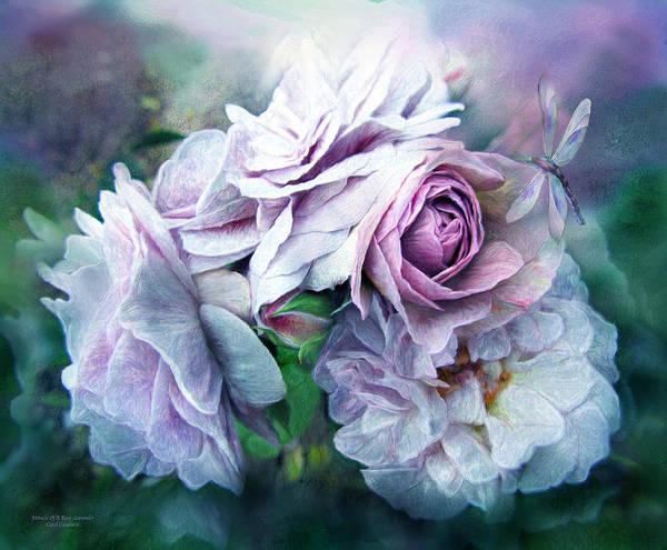 Mixed Media - Miracle Of A Rose - Lavender by Carol Cavalaris