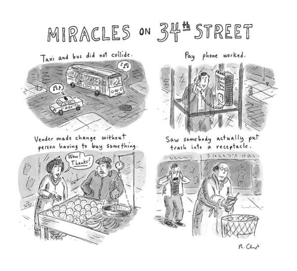 Miracle Drawing - Miracles On 34th Street by Roz Chast