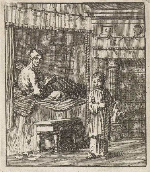 Healing Drawing - Miraculous Healing Of Jeske Klaes, Jan Luyken by Jan Luyken And Wed. Pieter Arentsz (ii) And Cornelis Van Der Sys