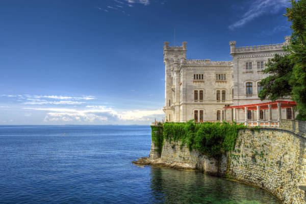 Photograph - Miramare Castle Side View by Ivan Slosar