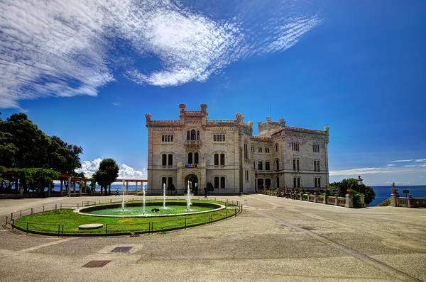 Photograph - Miramare Castle With Fountain by Ivan Slosar