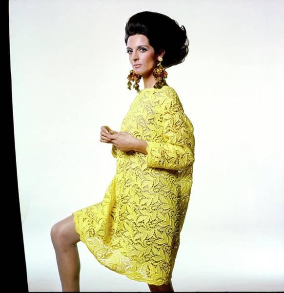 Wall Art - Photograph - Mirella Petteni Wearing Gustave Tassell by Bert Stern