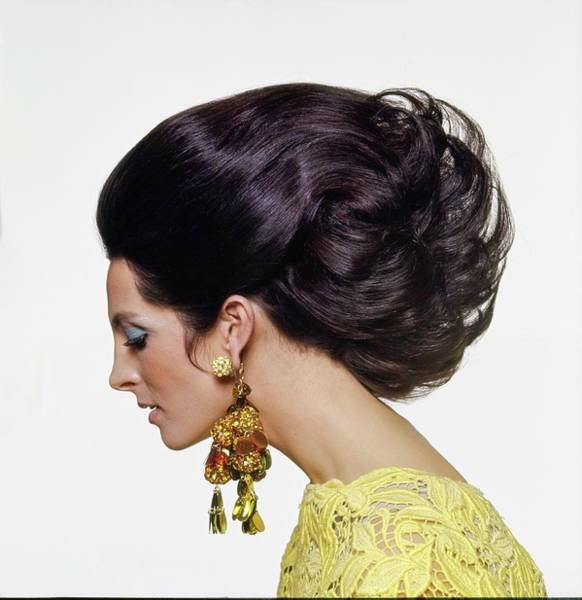 Wall Art - Photograph - Mirella Petteni Wearing Robert Originals Earrings by Bert Stern
