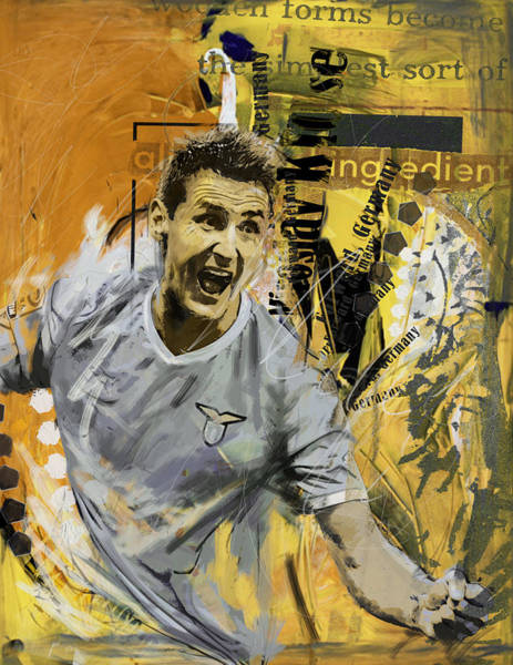 Wall Art - Painting - Miroslav Klose - B by Corporate Art Task Force