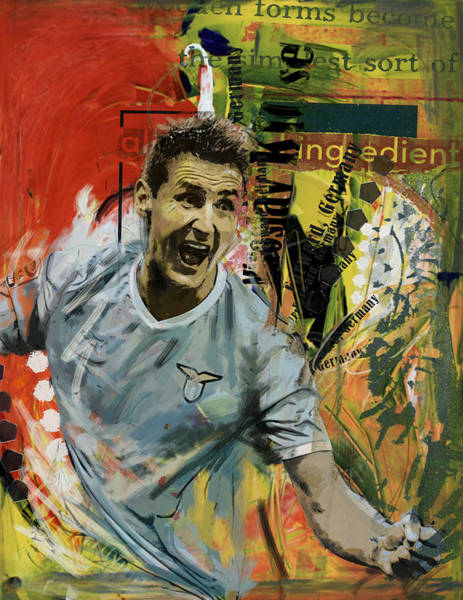 Wall Art - Painting - Miroslav Klose by Corporate Art Task Force