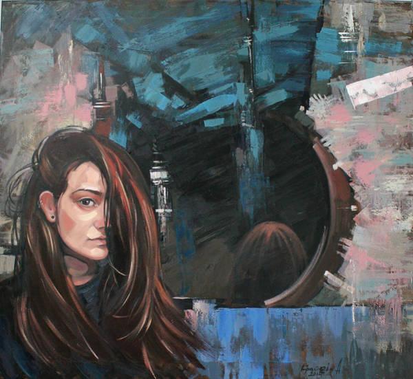 Wall Art - Painting - Mirror by Anastasija Kraineva