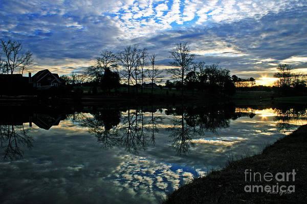 Wall Art - Photograph - Mirror Image Clouds by Jinx Farmer