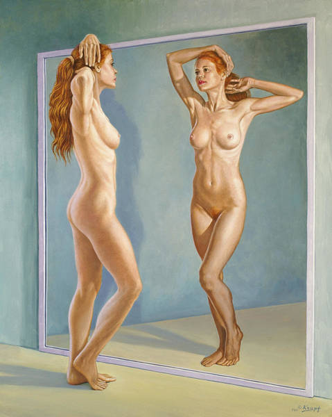 Wall Art - Painting - Mirror Image by Paul Krapf