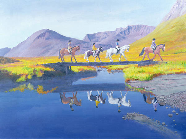 Wall Art - Painting - Mirror In The Cairngorms by William Ireland