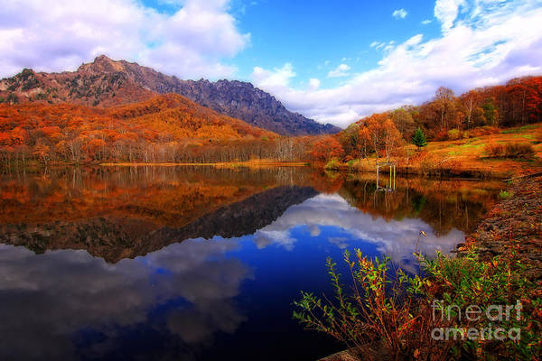 Photograph - Mirror Lake Autumn Landscape Reflections On Water by Beverly Claire Kaiya