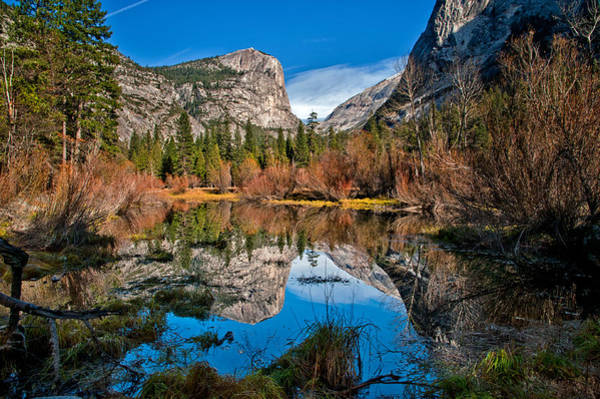 Granite Rock Photograph - Mirror Lake by Cat Connor
