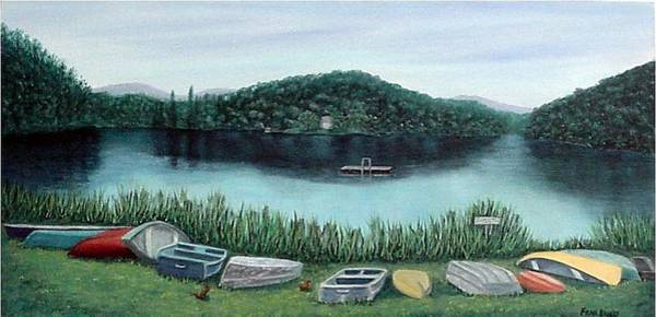 Painting - Mirror Lake by Fran Brooks