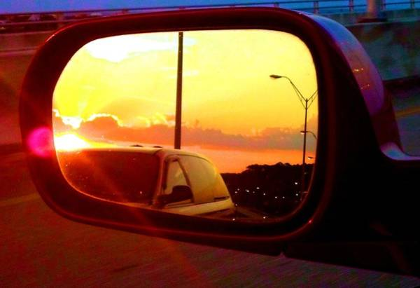 Mirror Sunset Art Print