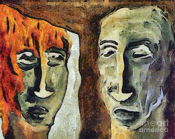 Wall Art - Mixed Media - Mirroring - Retrospect by Michal Boubin
