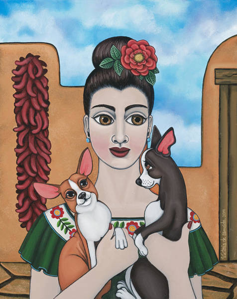 Hispanic Painting - Mis Carinos by Victoria De Almeida