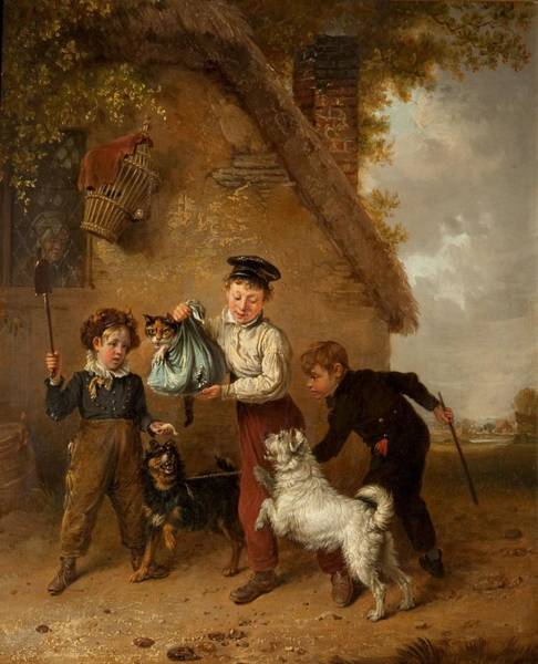 Naughty Dog Wall Art - Painting - Mischief by Edmund Bristow