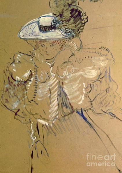 Henri Wall Art - Painting - Misia Natanson by Henri de Toulouse-lautrec