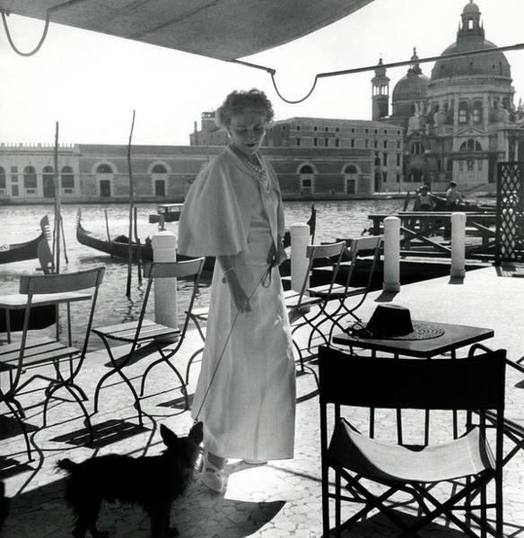 Furniture Photograph - Misia Sert In Venice by Horst P. Horst