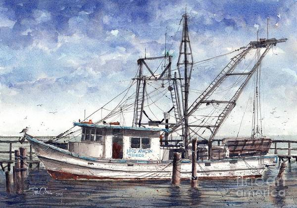 Shrimp Boat Wall Art - Painting - Miss Ashlynn by Tim Oliver