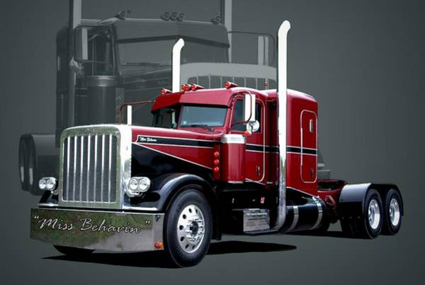 Semi Truck Photograph - Miss Behavin 1990 Peterbilt Semi Truck by Tim McCullough