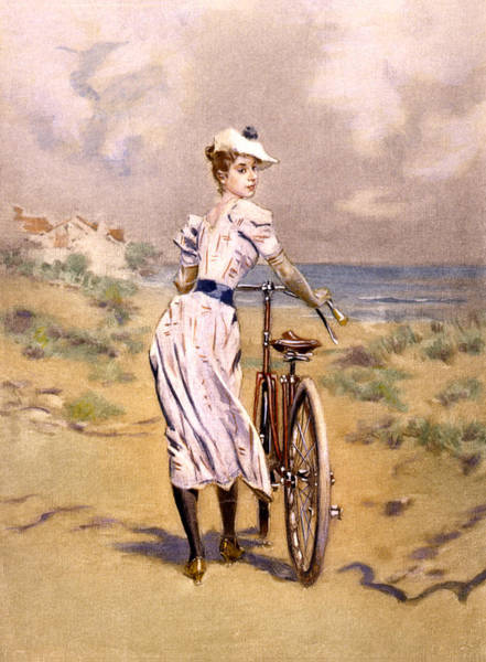 Photograph - Miss Bicycle 1894 by Bill Cannon