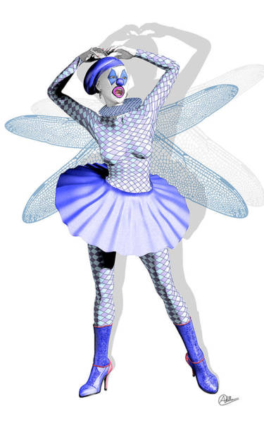 Wall Art - Digital Art - Miss Fairy Pierrette by Quim Abella