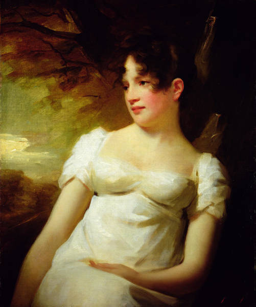 Empire Line Photograph - Miss Lamont Of Greenock, C.1810-15 Oil On Canvas by Sir Henry Raeburn