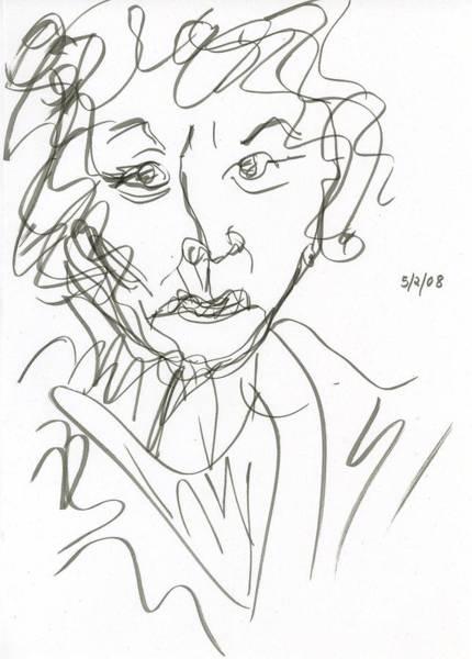 Drawing - Miss Marple Sketch I by Rachel Scott