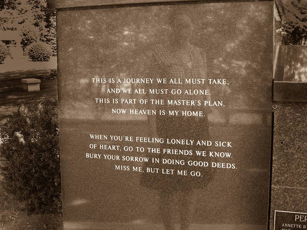 Photograph - Miss Me But Let Me Go Memorial by Kirkodd Photography Of New England