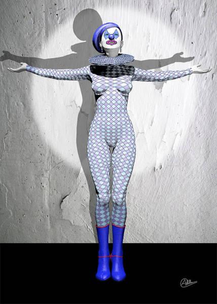 Wall Art - Digital Art - Miss Pierrette Receiving Applause by Quim Abella