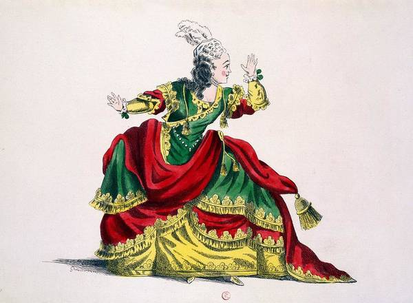 Baroque Drawing - Miss Sainval As Zenobie In Zenobie by French School