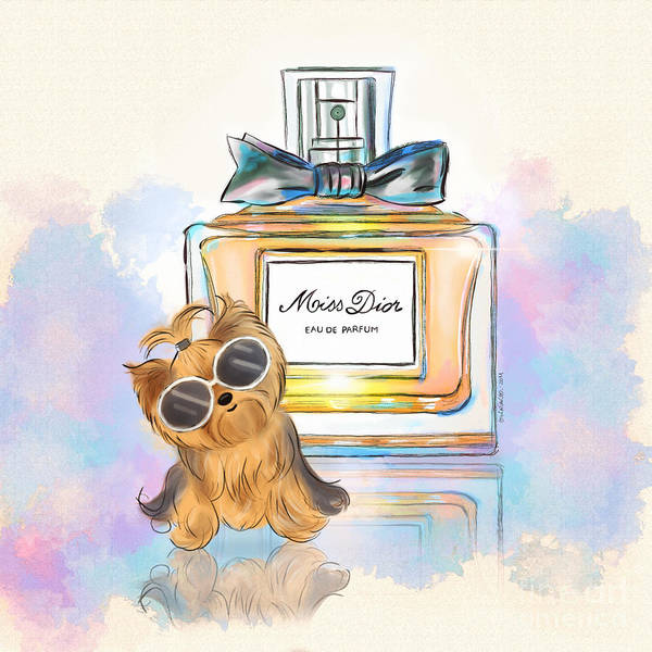 Painting - Miss Yorkie Parfum by Catia Lee
