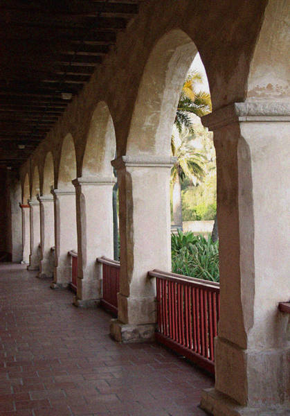 Mission Santa Barbara Photograph - Mission Arches by Kathy Yates