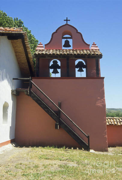 La Purisima Mission Photograph - Mission Bell Tower by Richard and Ellen Thane