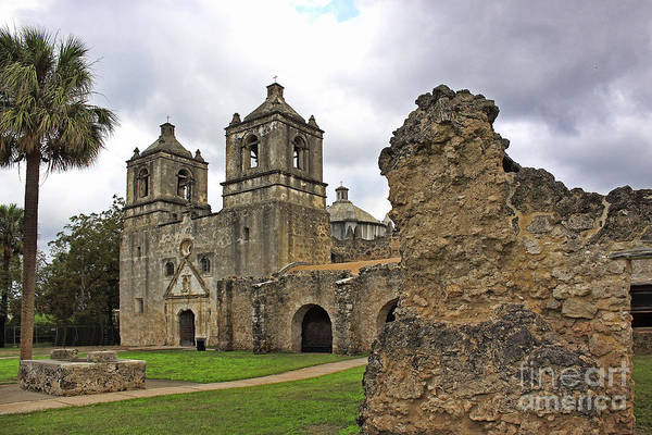 Photograph - Mission Concepcion by Richard Lynch