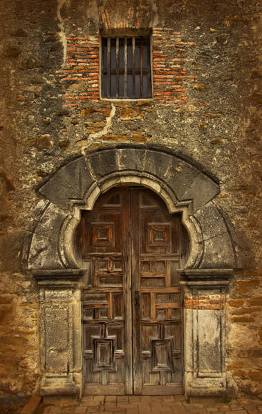 Art Print featuring the photograph Mission Espada Doorway by Jemmy Archer