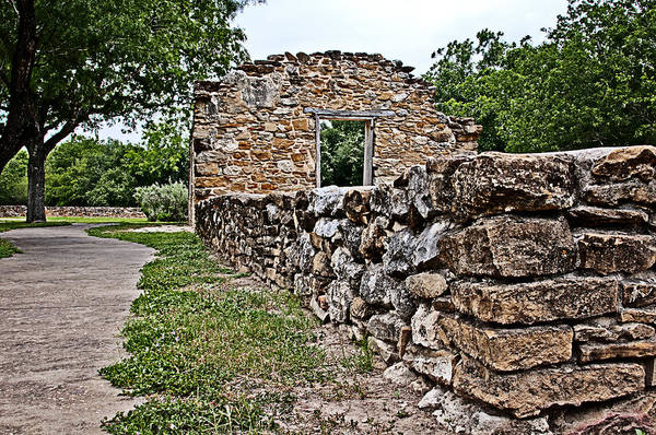 Photograph - Mission Espada Ruins by Andy Crawford