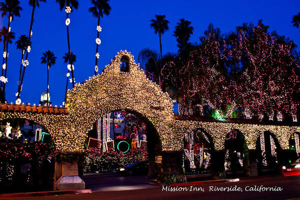 Photograph - Mission Inn Lights by Dorothy Cunningham
