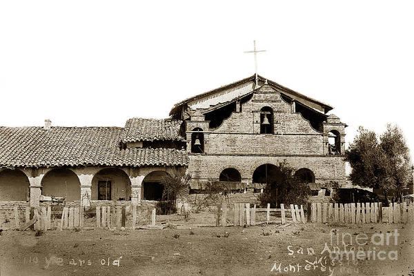 Photograph - Mission San Antonio De Padua California Circa 1885 by California Views Archives Mr Pat Hathaway Archives