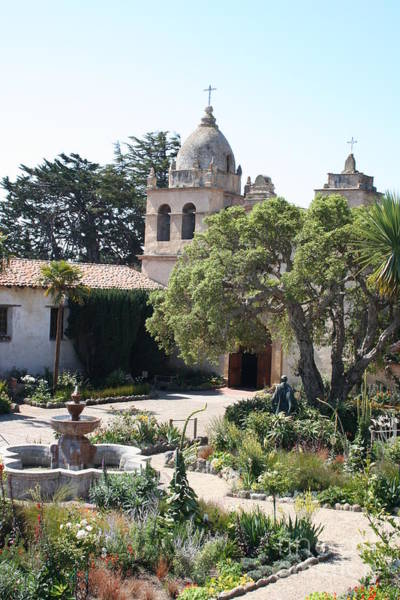 Misson Photograph - Mission San Carlos Borromeo Del Rio Carmelo by Christiane Schulze Art And Photography