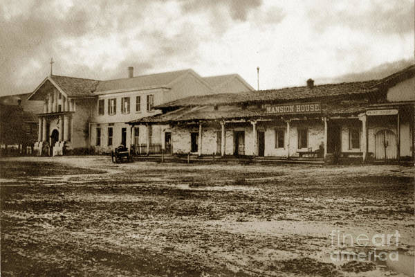 Photograph - Mission San Francisco De Asis Mission Dolores And Mission House Calif. 1880 by California Views Archives Mr Pat Hathaway Archives