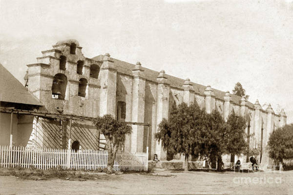 Photograph - Mission San Gabriel Arcangel California Circa 1895 by California Views Archives Mr Pat Hathaway Archives