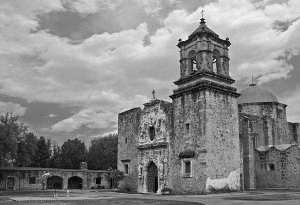 Art Print featuring the photograph Mission San Jose Bw by Jemmy Archer