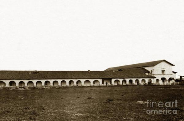 Photograph - Mission San Juan Bautista California Circa 1865 by California Views Archives Mr Pat Hathaway Archives