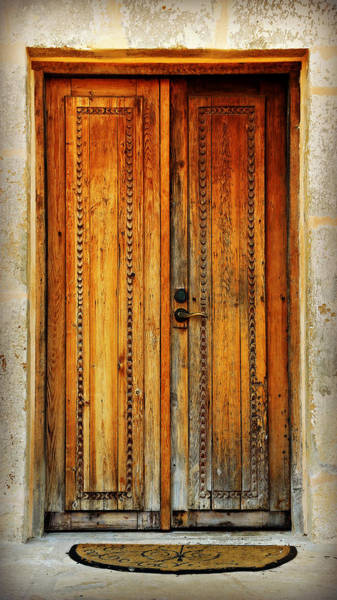 San Antonio Photograph - Mission San Juan Capistrano Door -- San Antonio by Stephen Stookey