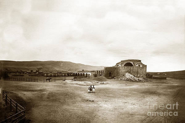 Mission San Juan Capistrano California Circa 1882 By C. E. Watkins Art Print