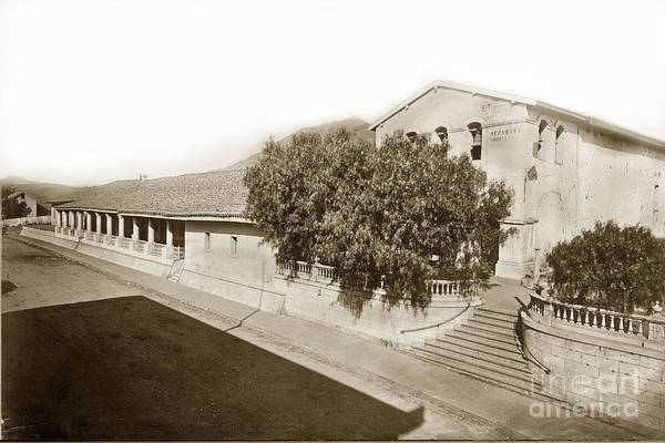 Photograph - Mission San Luis Obispo De Tolosa California 1880  by California Views Archives Mr Pat Hathaway Archives