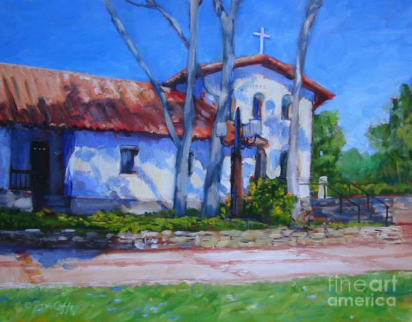 Painting - Mission San Luis Obispo by Joan Coffey
